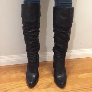 Jessica Simpson tall black boots.